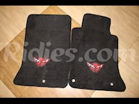 1997-2004 C5 Corvette Black Colored Front Floor Replacement Mats