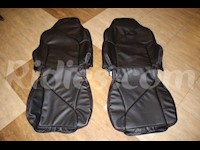 1994-1996 C4 Corvette Synthetic Leather Black Sport Seat Covers