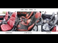 1996-2002 BMW Z3 Leather Replacement Seat Covers For Standard / Sports / M Seats