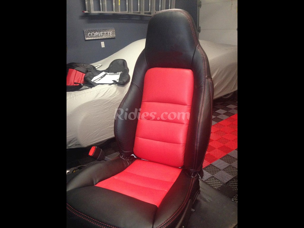2005 2011 C6 Z06 Corvette Leather Replacement Seat Covers For