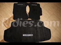 1990-1999 Nissan 300ZX Black Front & Trunk Floor Mats