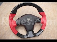 1990-1999 Nissan 300ZX / Z32 Genuine Leather and Real Carbon Fiber 3 Spoke