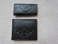 1997-2004 C5 Corvette Genuine Leather Wallet/Key Chain Set