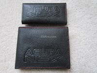 Acura NSX Genuine Leather Wallet and Key Chain Set
