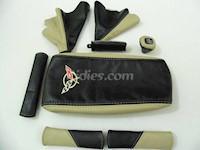 1997-2004 C5 Corvette Synthetic Leather 8pc Shift Boot Kit