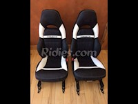 1997-2004 C5 Corvette Genuine Leather Seat Covers With Accent