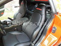 1997-2004 C5 Z06 Corvette Black Leather Replacement Perforated Seat Covers