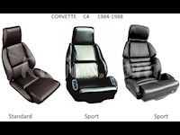 1984-1988 C4 Corvette Leather Replacement Seat Covers For Standard Seats
